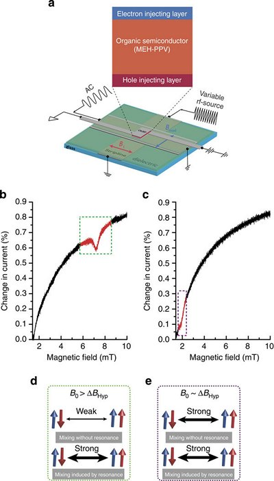 Магниторезистивный магнитометр на основе органической полупроводниковой пленки