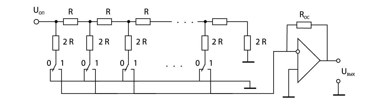 ЦАП на R–2R матрице с выходом в форме напряжения