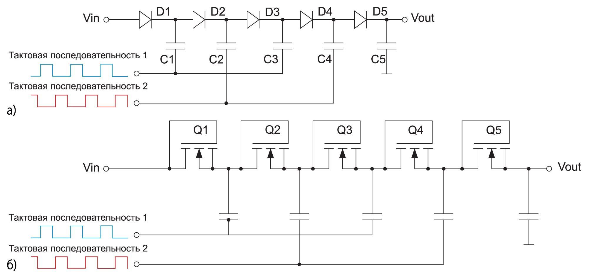 Схема зарядного насоса Диксона
