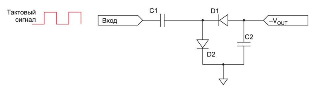 Схема инвертирования напряжения