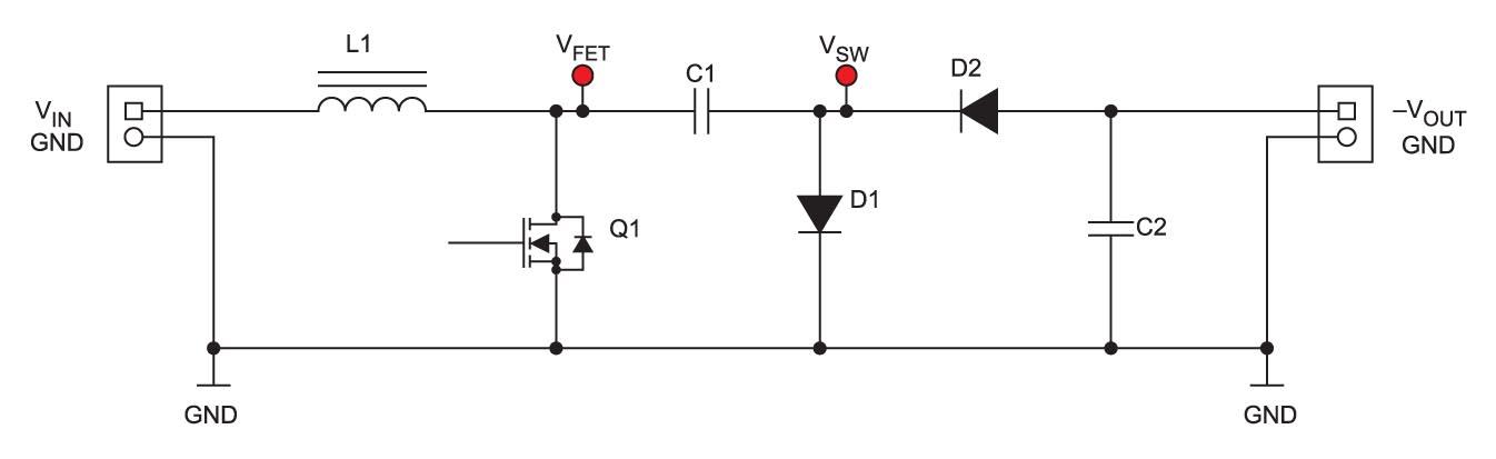 Упрощенная схема высоковольтного инвертирующего преобразователя