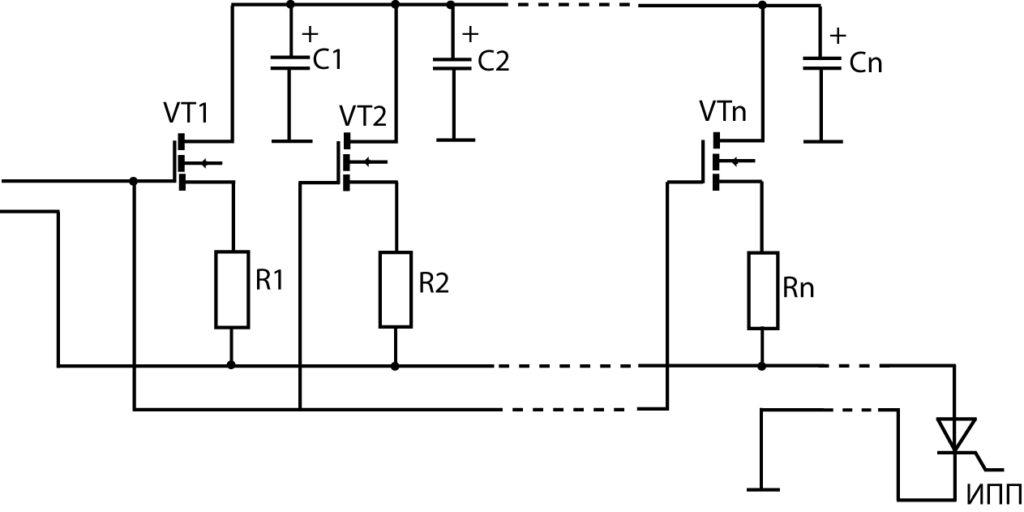 Параллельное включение источников тока