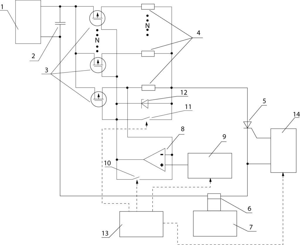 Функциональная схема установки ударного тока