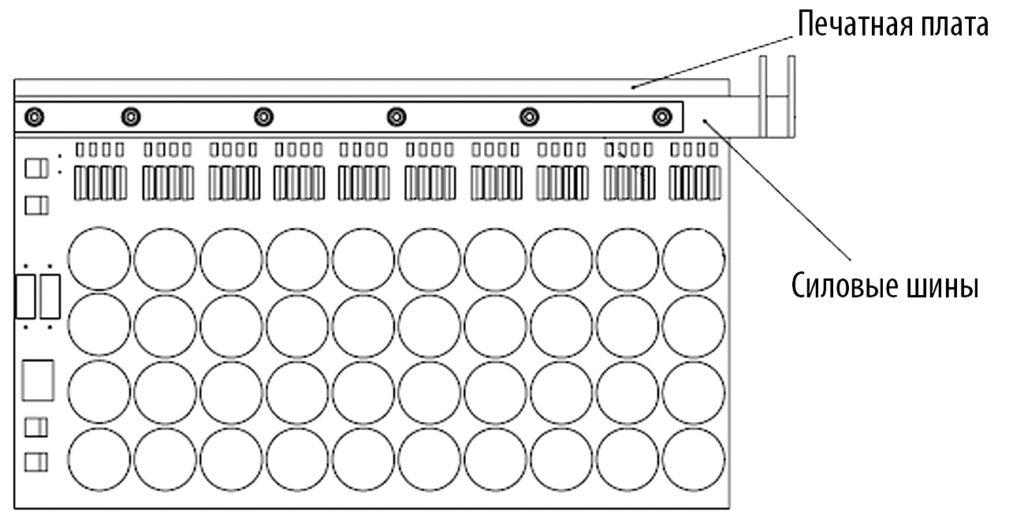 Конструкция силовой платы установки ударного тока