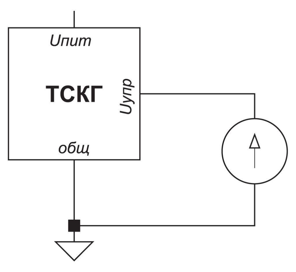 Схема включения генератора с аналоговым управлением и общей землей