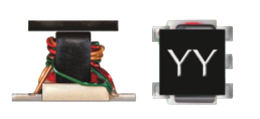 Внешний вид трансформатора с проволочной обмоткой, намотанной на магнитный сердечник