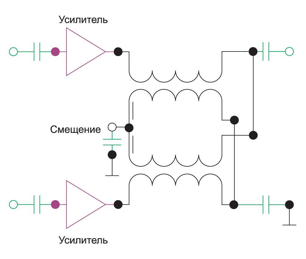 Использование трансформатора с центральной точкой для замены инжекторов постоянного тока