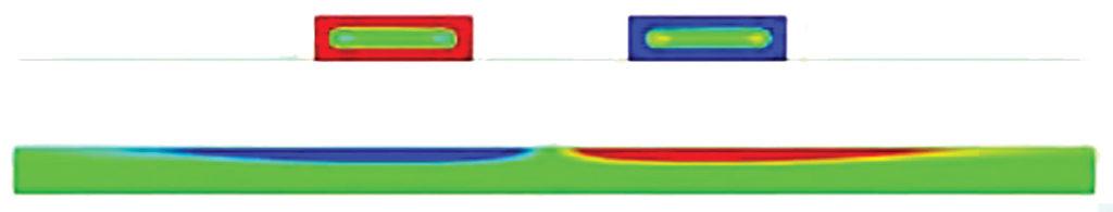 Связанная микрополосковая дифференциальная пара