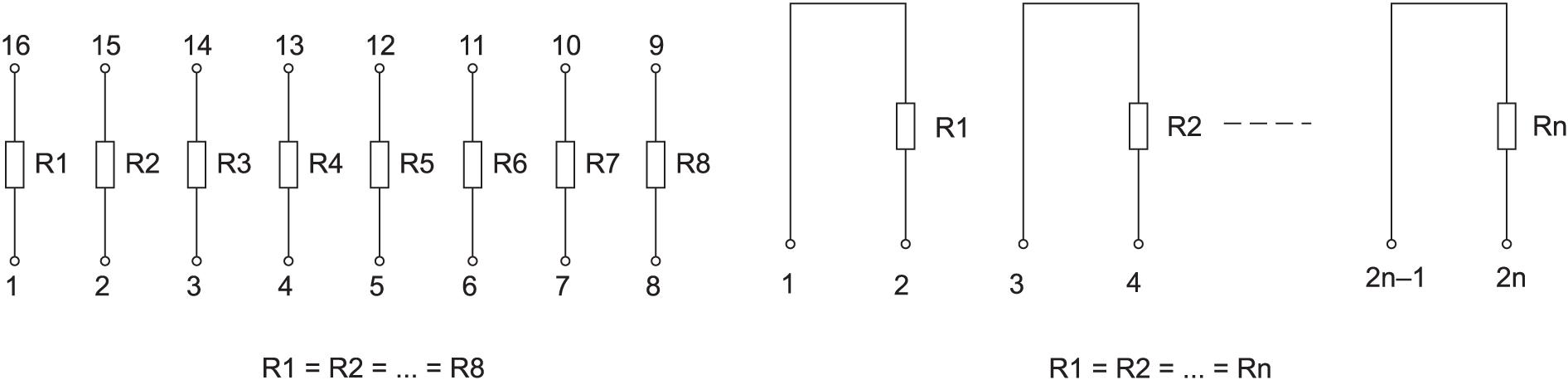 Изолированные резисторы в наборе