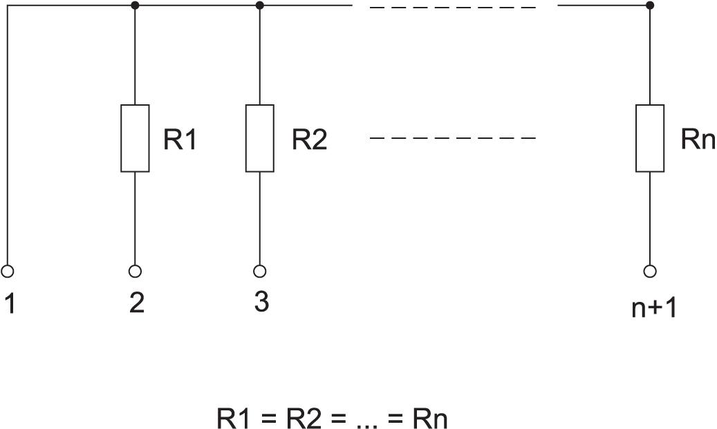 Резисторы с общим выводом в наборе