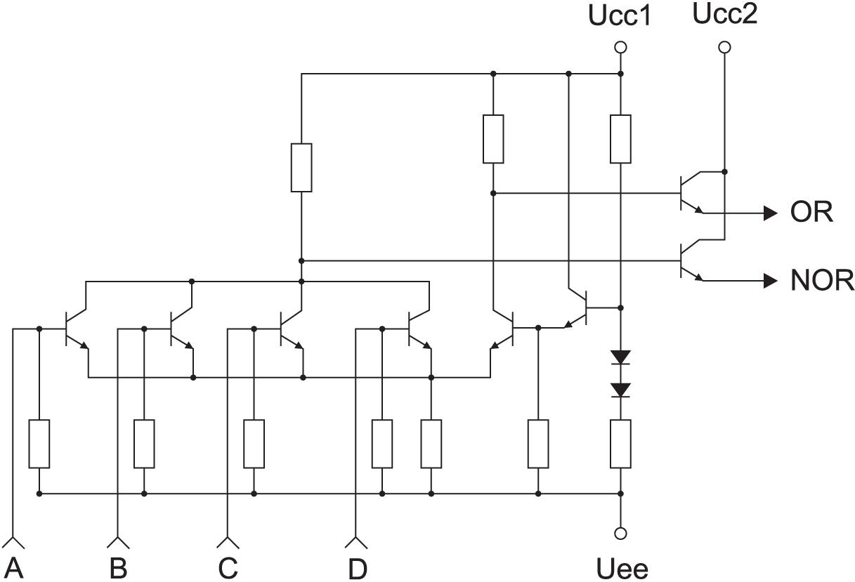 Типовое применение наборов резисторов в высокоскоростном протоколе ECL