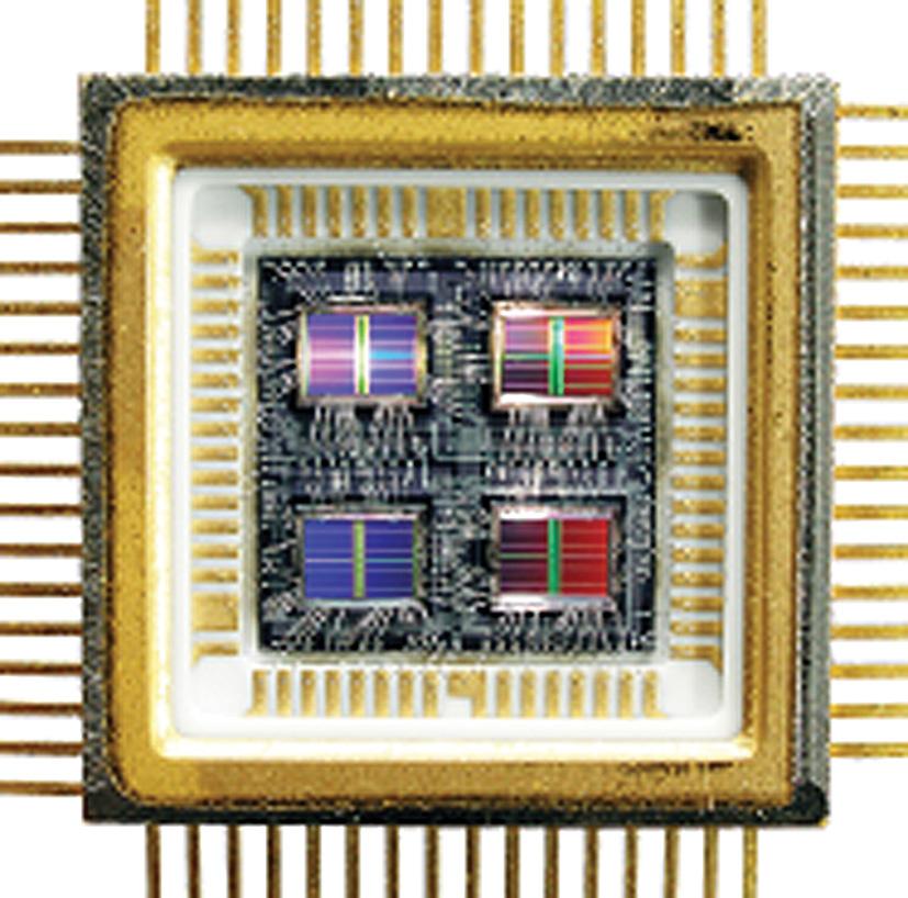 4-х кристальная микросборка с кремниевой объединительной платой