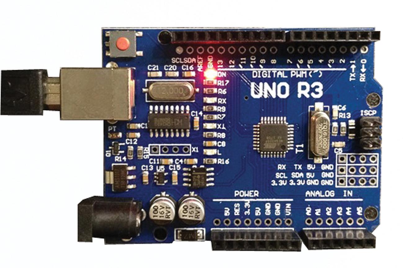 Пример недорогой печатной платы Arduino Uno