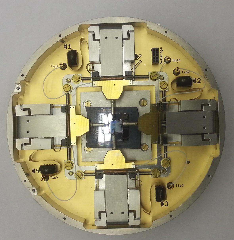 Внешний вид зондодержателя с опущенными зондами
