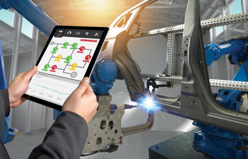 Представление на планшете модели автоматизации